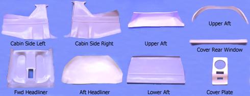 Cessna Carbon Fiberglass Interior Panels From Aircraft Spruce