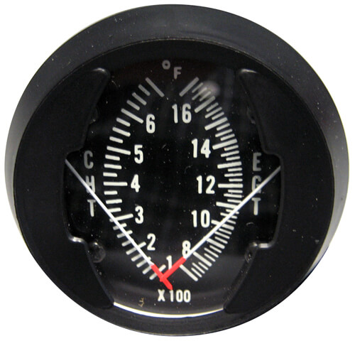 Westach Dual Egt Cht Gauge With Senders From Aircraft Spruce