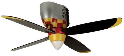 Warplanes ceiling fan p 51 mustang glamorous glen wb448gg from aircraft spruce - Propeller ceiling fans ...